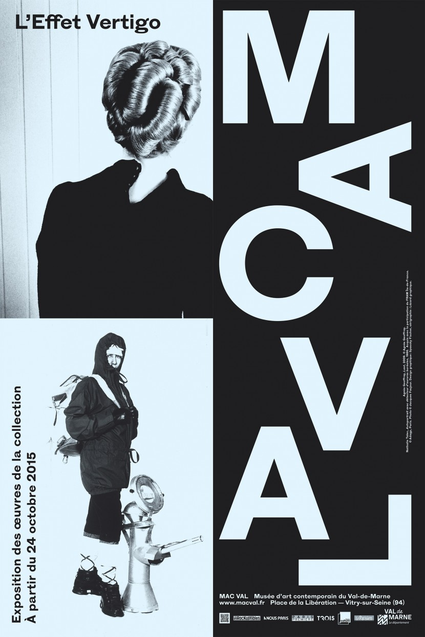 MAC VAL exhibition poster, The Vertigo Effect (detail)