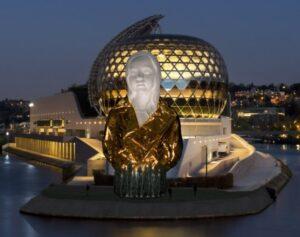 Nathalie Talec, Le secret du monde, 2020, projet d'oeuvre monumentale pour l'Île Seguin.